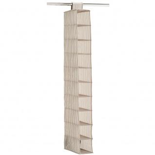 Kleiderorganizer mit 10 Ebenen, faltbarer Stoffschrank - 129 x 15 x 30 cm, ZELLER