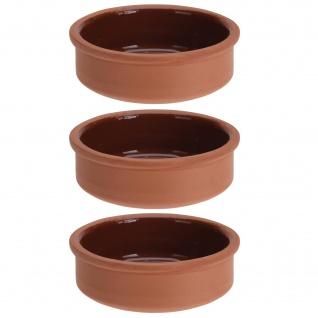 Terrakottafarbenes Tapas-Servierschälchen, 12 cm, 3 Stück - EH Excellent Houseware