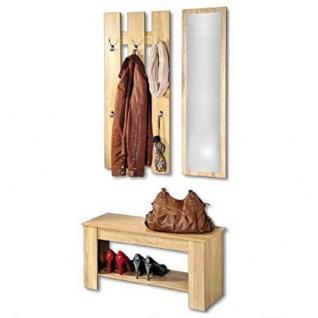 Set für Flur: Spiegel+Schuhschrank+Kleiderbügel, Holz, KESPER - Kesper