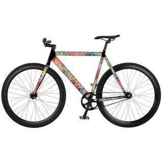 """Fahrradaufkleber im mehrfarbigen ,, Random"""" Muster von Remember, bunte Fahrradschutzfolie - Remember"""