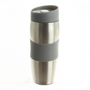 Thermobecher - für ein Auto, für einen Spaziergang oder eine Reise, 400 ml, grau