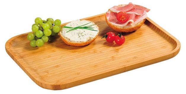 Servierbrett, original Bambus-Tablett zum Servieren von Snacks und Vorspeisen - Kesper