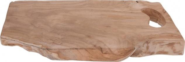 Teakholz Deko Tablett 42x26x3 cm, Schneiden Dreadwalk, 2in1 - Home Styling Collection
