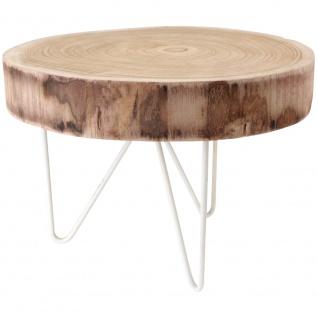 Beistelltisch 43X30 cm Holz und Metall
