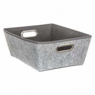 Vorratsbehälter breit, grau, mit Griffen, 35x 28x 13, 5 cm