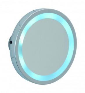 WENKO, LED Leuchtspiegel Mosso - 3 Saugnäpfe, 300% Vergrößerung, Stahl, Chrom - WENKO