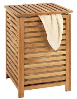 Wäschetruhe, Wäschebox, Wäschekorb, Stauraum für Handtücher NORWAY, aus Walnussholz