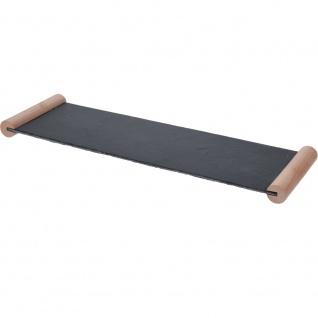Servierplatte aus Schiefer 50 x 15 x 3 cm