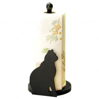 WENKO Küchenrollenhalter Katze , Höhe 30 cm