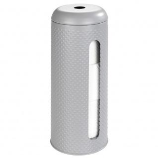 Toilettenpapierhalter PUNTO, Metallbehälter für 3 Rollen - WENKO