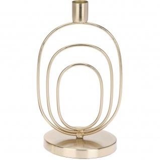 Deko-Kerzenständer, golden, 20 cm, rund