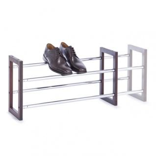 Zeller Schuhregal Schuhablage Ausziehbar Schuhständer Stapelbar Metall, Holz