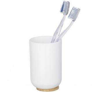 Becher für Zahnbürste, Kunststoff und Bambus Badezimmer-Behälter - WENKO