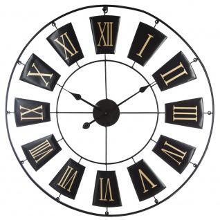 Hängeuhr mit einzigartigem Muster, Metallzifferblatt mit großen und lesbaren römischen Ziffern