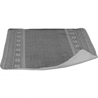 PLAID POLYESTER 130X150CM GREY - Home Styling Collection