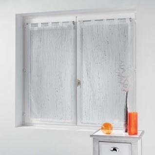 STRAIGHT NET CURTAIN WITH LOOP 2x60x160 APPLIQUE SANDBLASTED V - Douceur d'intérieur