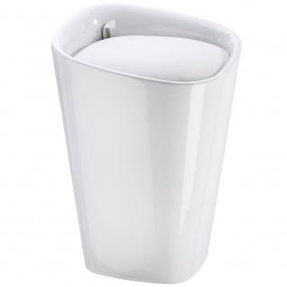 CANDY Wäschekorb mit bequemem Sitz, universelle Badmöbel 2 in 1 - 20 l, WENKO - WENKO