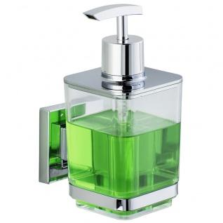 Wenko Vacuum-Loc Seifenspender Quadro Edelstahl, Befestigen ohne bohren