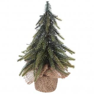 Tischdekoration Weihnachtsbaum Jute - 12 x 20 cm - Grün - Fééric Lights and Christmas