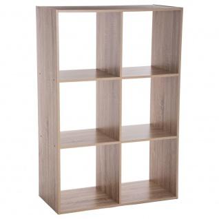 Dekoregal Bücherregal 6 Einlegeböden braun Höhe 100 cm