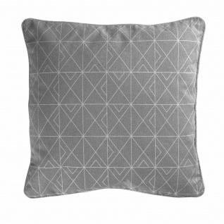 Kissen, Bezug abnehmbar, Grau/Silber, 40 x 40 cm - Douceur d'intérieur