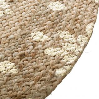 Deko-Teppich aus Jute, Ø 115 cm, rund - Atmosphera - Vorschau 4