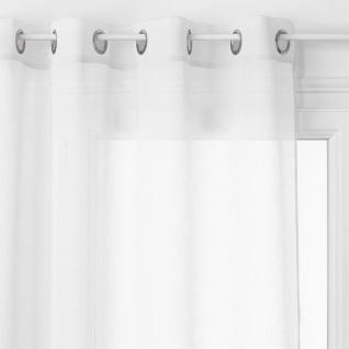 Homemaison Vorhang leicht Uni mit Ösen, Polyester, Rosa, 240 x 140 cm - Atmosphera