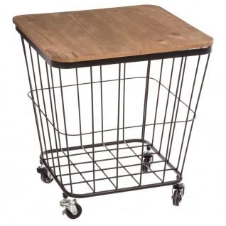 Multifunktionaler mobiler Tisch mit Rädern, Küchenwagen, mit Versteck