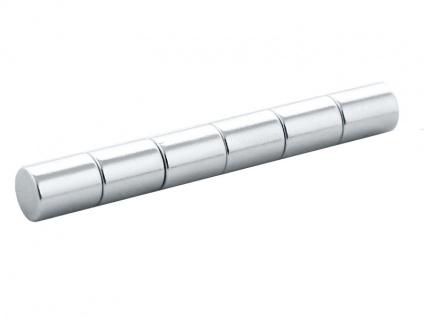 ZELLER Magnete für Notizen, Edelstahl, 6 Stück - Vorschau 3