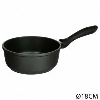 Küchenpfanne mit Griff, Aluminium, Topf, Ø 18 cm, schwarz