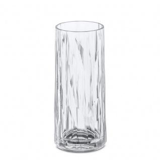 Hochglas für Longdrinks CLUB M - Glas für Getränke, Cocktails, Wasser, Farbe Grau, KOZIOL