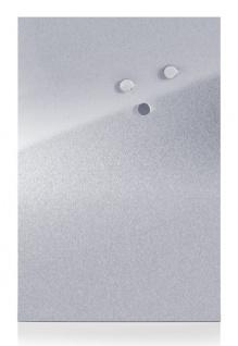 Metall-Magnettafel MEMO + 3 Magnete, 60x40 cm, silbern, ZELLER