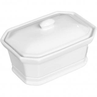 Keramik-Auflaufform MINI mit Deckel, weiß - Secret de Gourmet