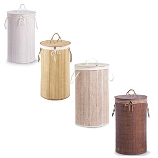 Wäschekorb aus Bambus, 55 Liter, ZELLER