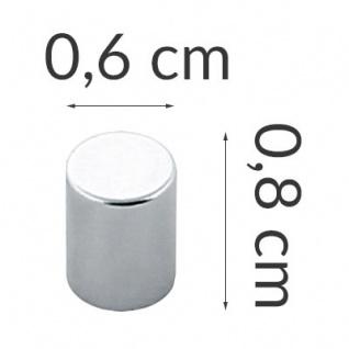 ZELLER Magnete für Notizen, Edelstahl, 6 Stück - Vorschau 2