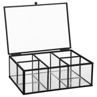 Eine Glasschatulle für Schmuck 20 x 14 x 7 cm - schwarz
