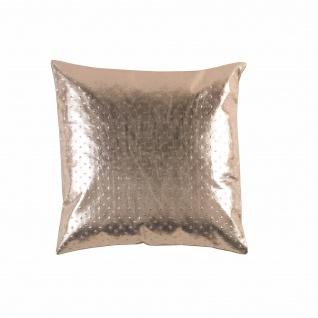 Kissen, Abnehmbarer Bezug, Kompresse, 40 x 40 cm, Polyurethan, mit Sterlingseil, Kupfer - Douceur d'intérieur