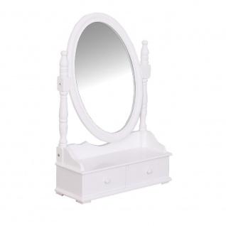 Holzschatulle für Schmuck mit einem Spiegel, mit 2 Schuhbladene