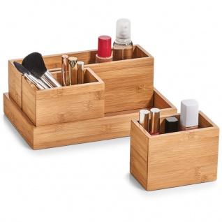 Aufbewahrungsbehälter, Organizer, 100% Bambus - 4 Elemente, 28 x 17.7 x 11 cm