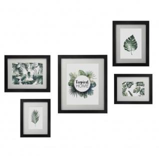 5 Rahmen für Fotos, GALERIE von Fotos, Bilderrahmen für die Wand - schwarz