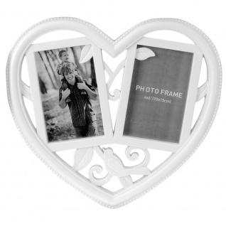 Bilderrahmen, passepartout , collage, Herzförmig - für 2 Fotos