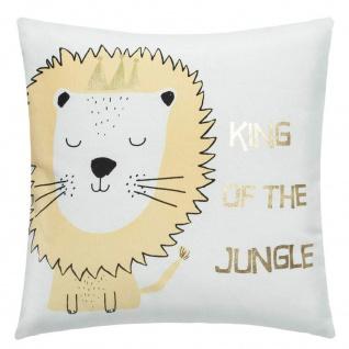 Kissen mit abnehmbarem Bezug, 40 x 40 cm, Lion - Atmosphera for kids