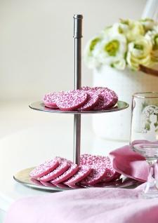 EH Excellent Houseware, Etagere silber 2-stöckig aus Edelstahl, Kuchenständer - Vorschau 3
