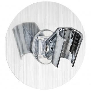 Wenko Static-Loc Duschkopfhalter Osimo Befestigen ohne Bohren, Polyethylenterephthalat, Silber, 9, 5 x 9, 5 x 6, 2 cm