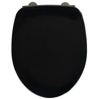 Wenko WC-Sitz Armonia - Toiletten-Sitz, mit Absenkautomatik, rostfreie Fix-Clip Hygiene Edelstahlbefestigung, 36, 5 x 44, 5 cm, weiß - WENKO