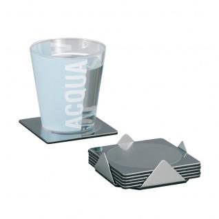 ZELLER Glasuntersetzer-Set, 7-teilig, Edelstahl