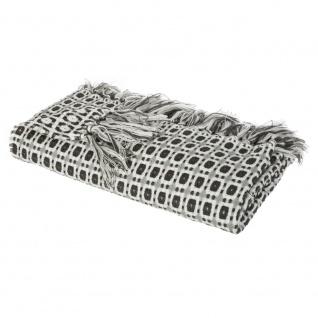 Tagesdecke, Decke mit Fransen, Plaid auf die Couch, Bettdecke 150 x 125 cm - rot
