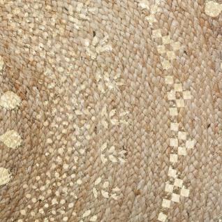 Deko-Teppich aus Jute, Ø 115 cm, rund - Atmosphera - Vorschau 3