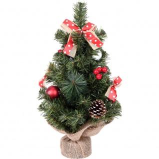 Künstlicher Weihnachtsbaum auf dem Stamm, mit Dekorationen und Zapfen, 40 cm - Home Styling Collection