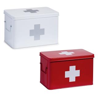 ZELLER Medizin-Box, aus Metall, in , Länge: 32 cm
